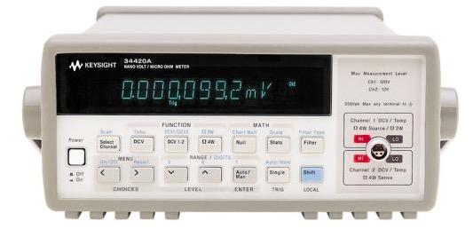 Keysight 34420A Nanovolt/Micro-ohm Meter